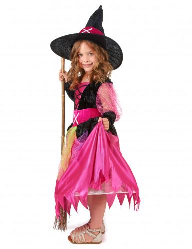 Costume strega Halloween bambina-1