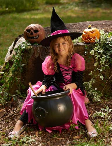 Costume strega Halloween bambina-3