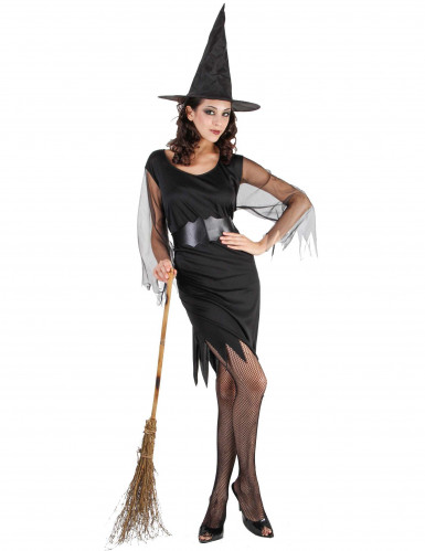 Costume da strega corto donna Halloween