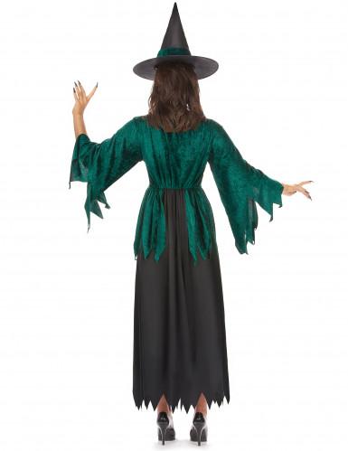 Costume da strega verde donna Halloween-2