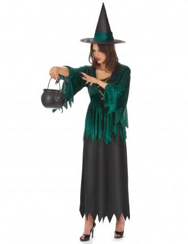 Costume da strega verde donna Halloween-1