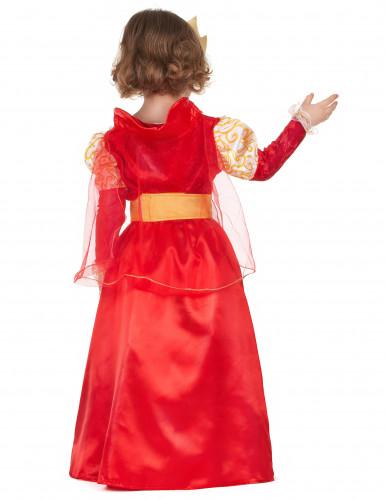Costume regina rosso e oro da bambina-2