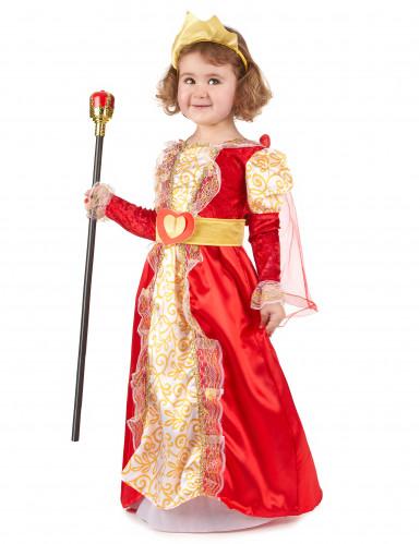 Costume regina rosso e oro da bambina-1