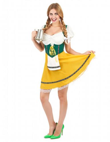 Costume da bavarese con laccetti per donna