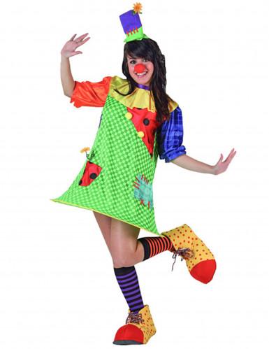 Costume clown donna con cerchietto