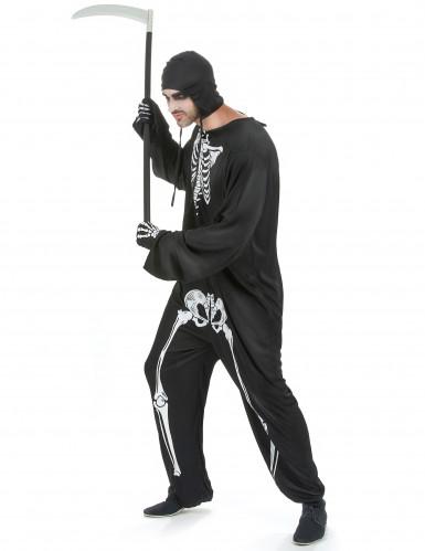 Costume tuta da scheletro uomo Halloween-1