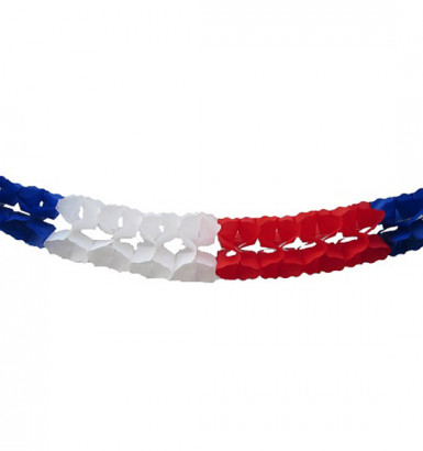 Ghirlanda extra tricolore Francia -6 metri