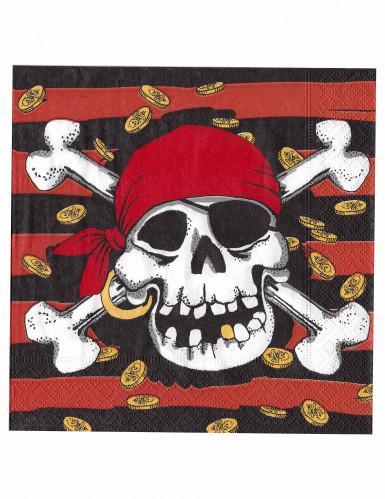 Tovaglioli pirata con teschio
