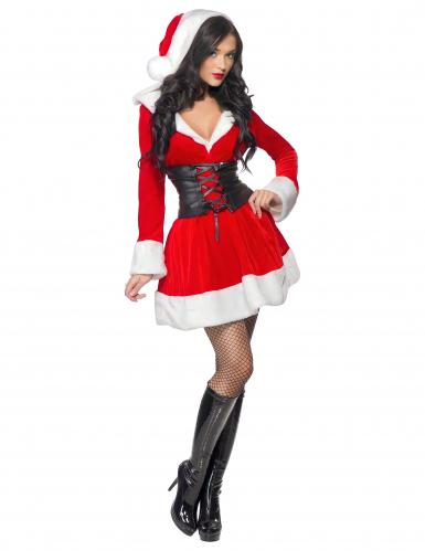 Costume Mamma Natale con corsetto per donna