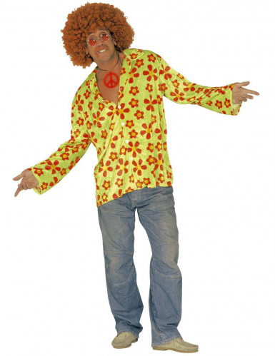 Camicia verde Hippy adulto
