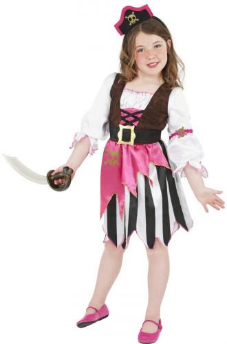 Costume da pirata rosa bambina