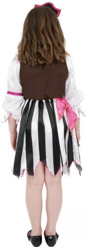 Costume da pirata rosa bambina-2