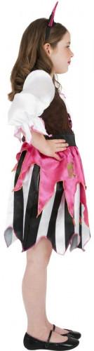Costume da pirata rosa bambina-1