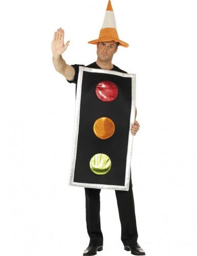Costume semaforo tricolore adulti