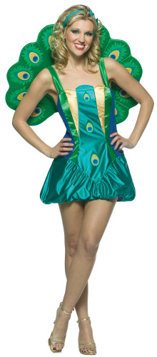 Costume pavone donna