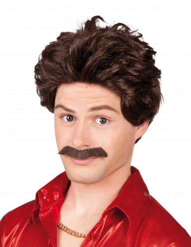 Parrucca con baffi uomo