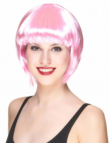 Parrucca cabaret rosa adulti