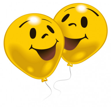 10 palloncini smiley