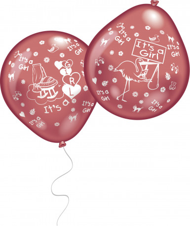 10 palloncini It's a girl
