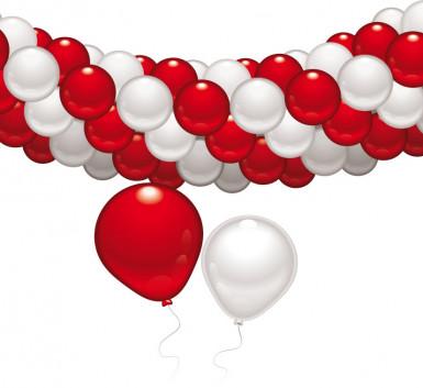 Set decorativo rosso e bianco