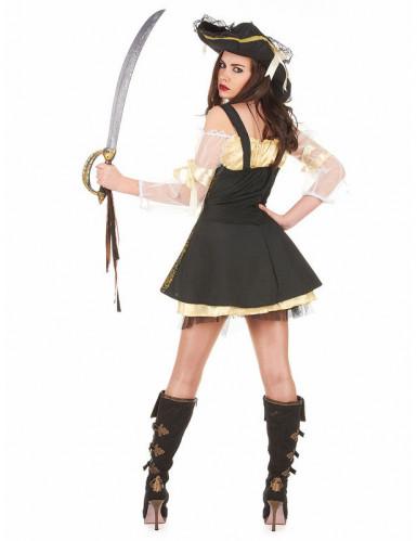 Costume da pirata dorato per donna-1