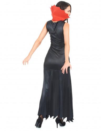 Costume vampiro nero e rosso donna Halloween-2