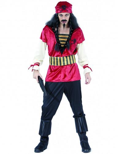 Costume da pirata di velluto uomo