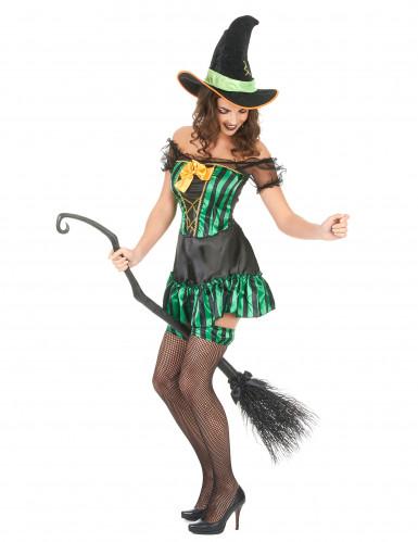 Costume da strega con giarrettiere per donna-1