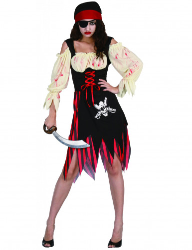 Costume pirata zombie Halloween donna