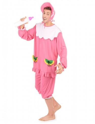 Costume bebè rosa per uomo-1