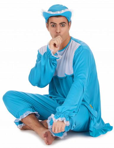 Costume da bebè azzurro per uomo-1