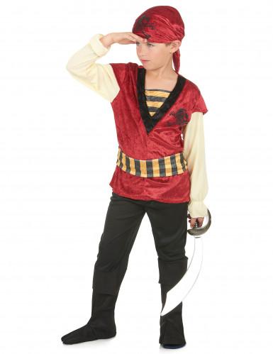 Costume da pirata di velluto per bambino-1