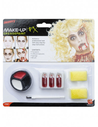 Trucco zombie adulto Halloween-1