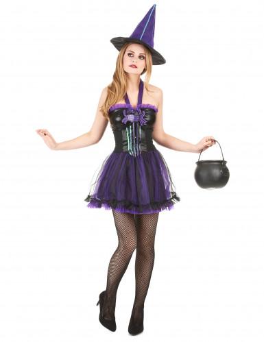 Costume da strega con tutù viola per donna