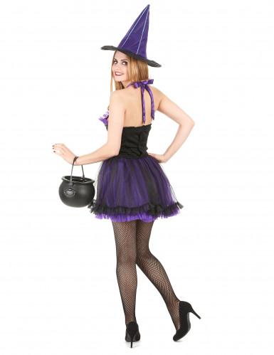 Costume da strega con tutù viola per donna-2