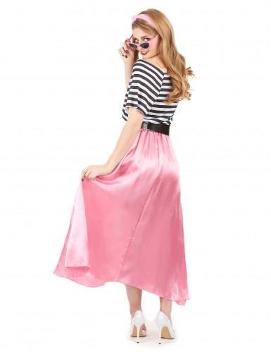 Costume anni '50 rosa e nero donna-2