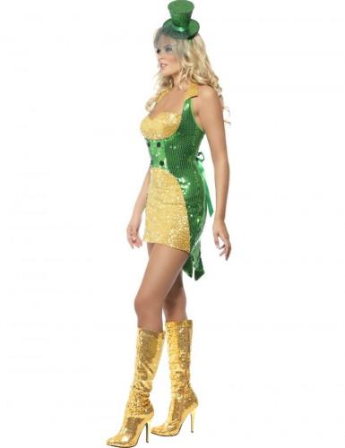 Costume da Irlandese sexy con paillettes donna-2