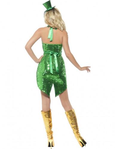Costume da Irlandese sexy con paillettes donna-1