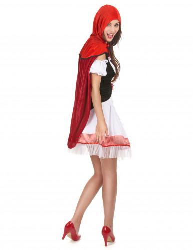 Costume Cappuccetto Rosso con abito bianco da donna-2