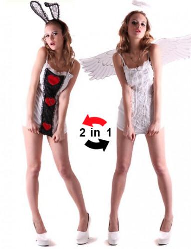 Costume reversibile angelo e coniglio donna