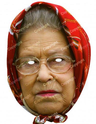 Maschera Regina Elisabetta con foulard