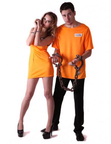 Costume coppia Prigionieri arancioni per adulti
