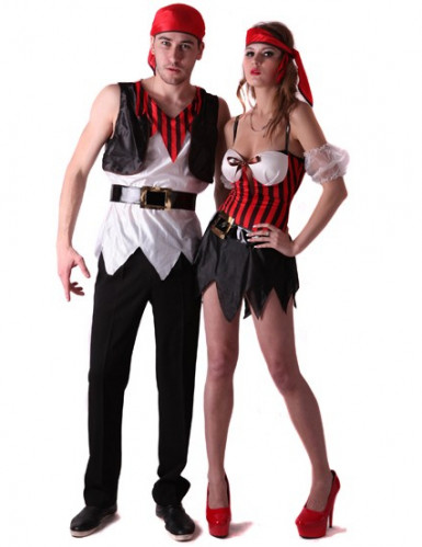 Costume coppia di pirati a righe
