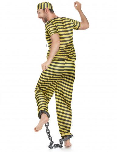 Costume carcerato giallo uomo-2