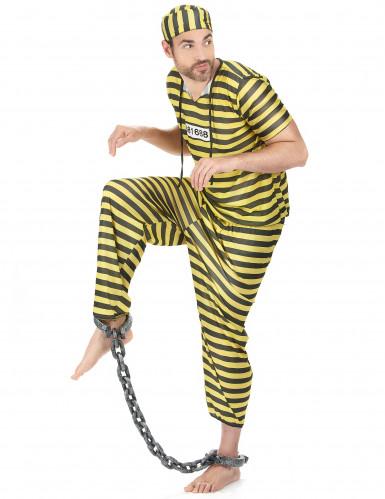 Costume carcerato giallo uomo-1