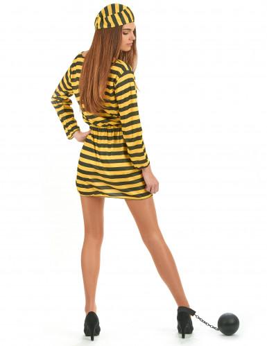 Costume carcerata giallo donna-2