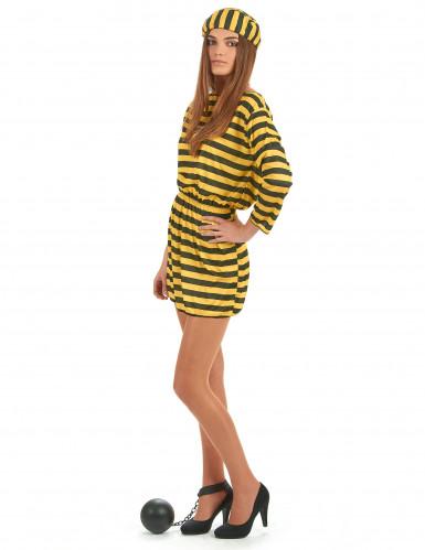 Costume carcerata giallo donna-1