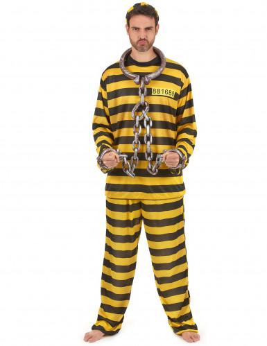 Costume carcerato giallo adulto