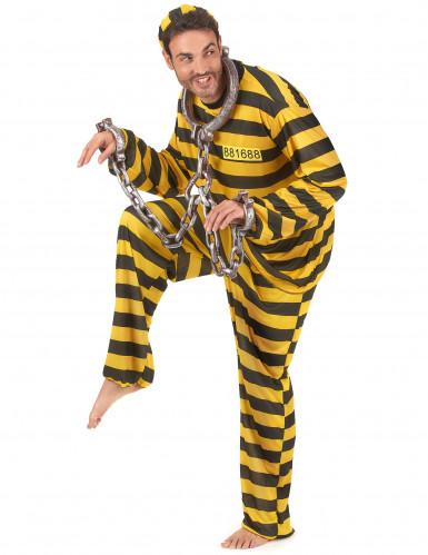 Costume carcerato giallo adulto-1