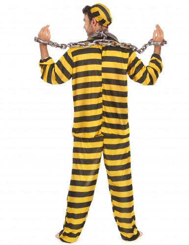 Costume carcerato giallo adulto-2